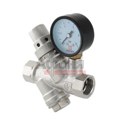 Редуктор давления VALTEC с фильтром и манометром, от 2 до 5 бар 1/2