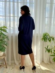 Саманта. Стильное платье больших размеров. Синий