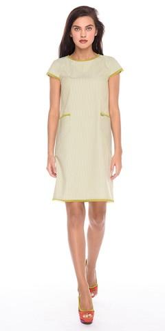 Фото стильное офисное платье с накладными карманами на молнии - Платье З183-589 (1)