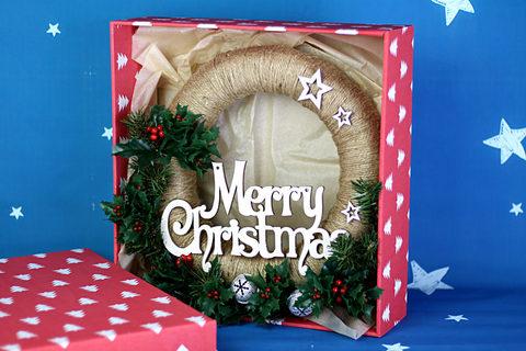 Вінок декоративний Merry Christmas