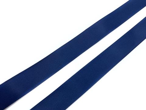 Репсовая лента (сантюр) 25мм, черно-синяя