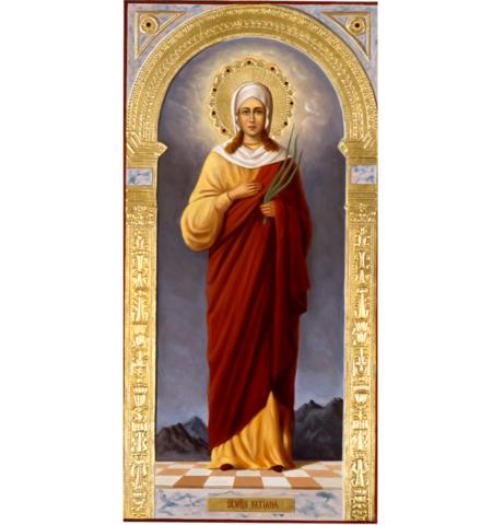 Икона святая Татьяна на дереве на левкасе мастерская Иконный Дом