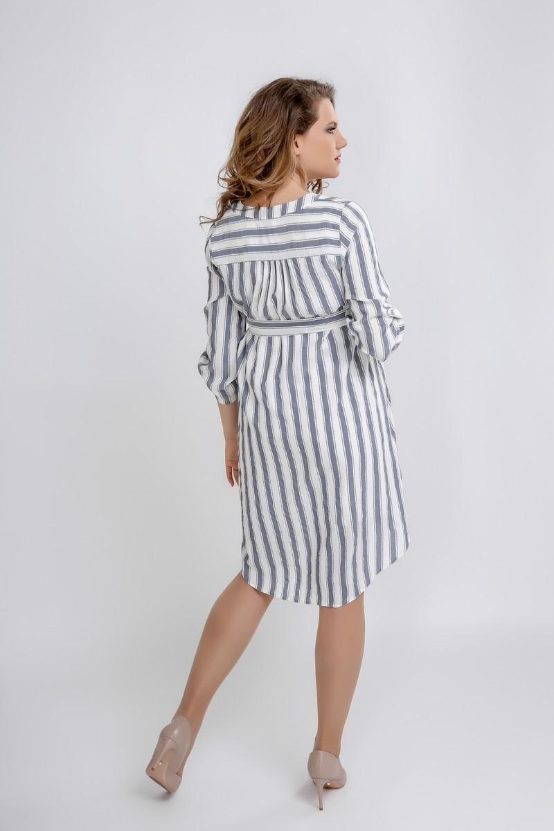 Фото платье-рубашка для беременных GEMKO от магазина СкороМама, белый, полоса, размеры.