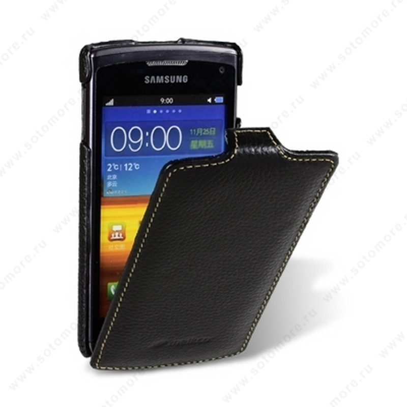 Чехол-флип Melkco для Samsung Wave 3 S8600 Leather Case Jacka Type (Black LC)