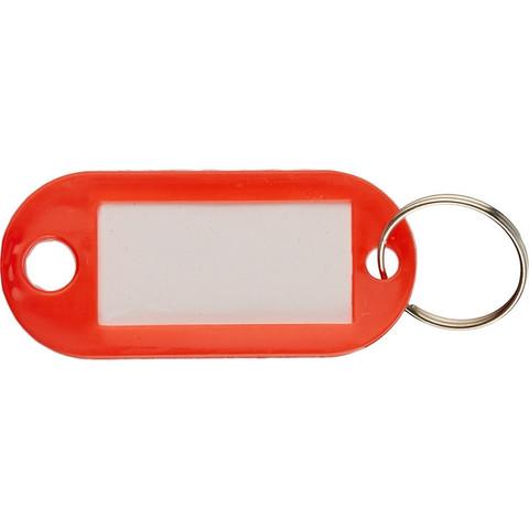 Бирки для ключей пластиковые красные (100 штук в упаковке)