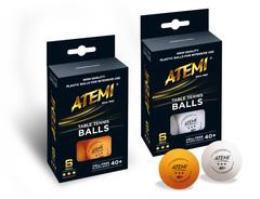 Мячи пластиковые ATEMI D40+ 3* (6 шт.)