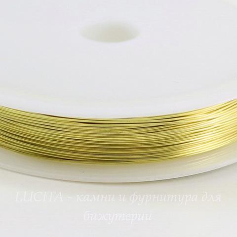 Проволока медная 0,4 мм, цвет - латунь, примерно 15 метров