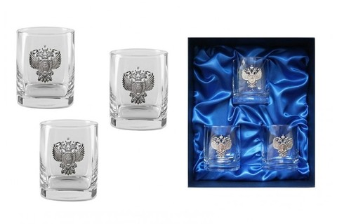 Подарочный набор стаканов для виски «Российский стандарт»