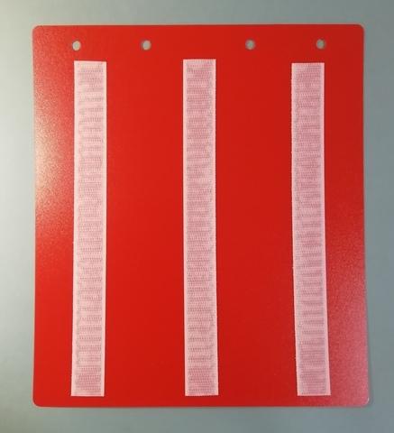 Лист-вкладыш в папку для карточек 6*6 см (красный)