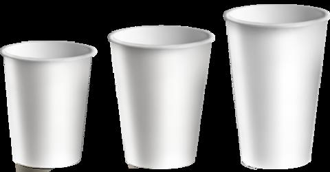 Стакан бумажный 1сл 400 (490) мл d=90мм  белый