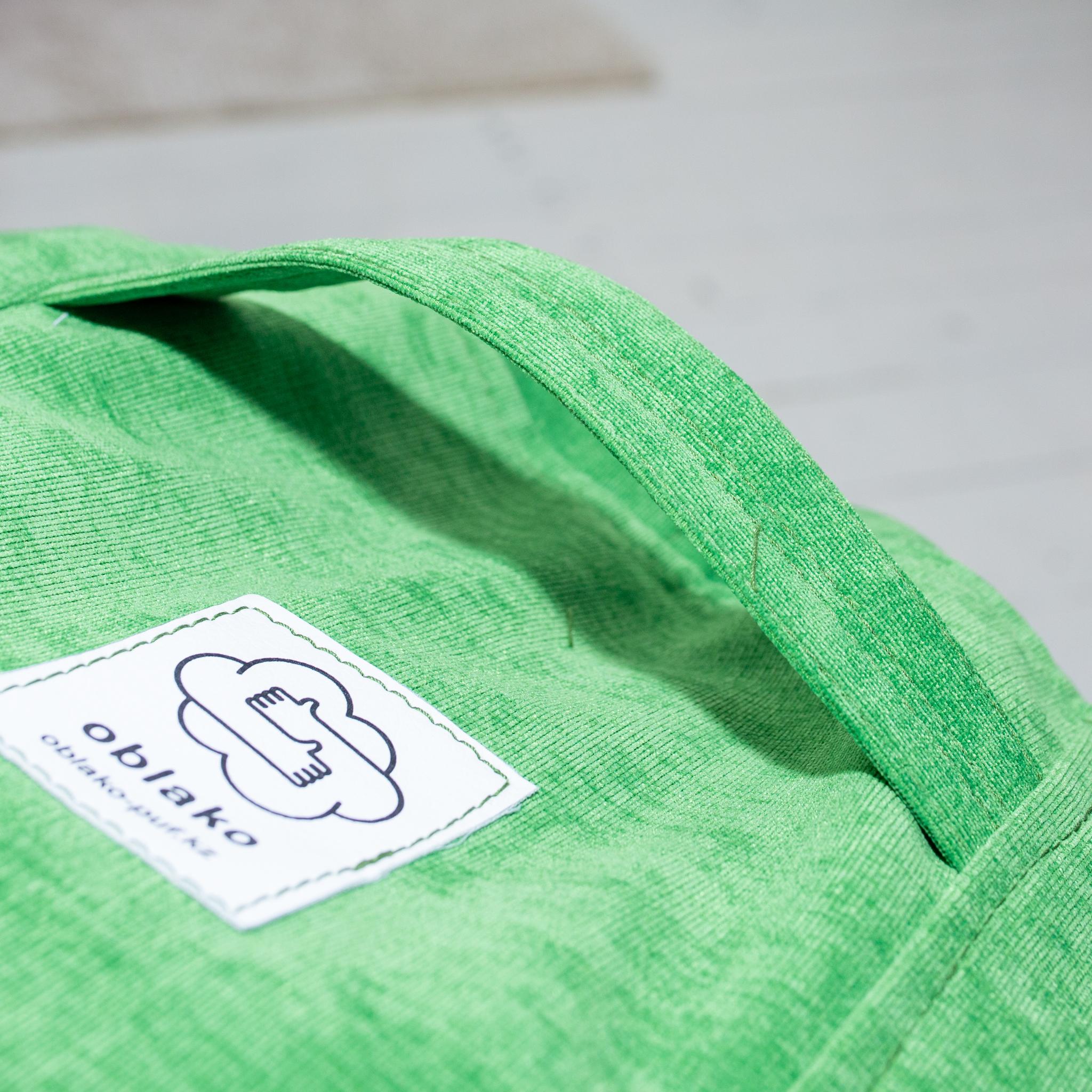 Круглый пуф тканевый (зелёный)