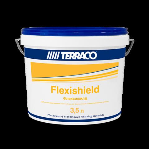 Terraco Flexishield/Террако Флексишилд акриловая высокоэластичная краска для фасадных работ