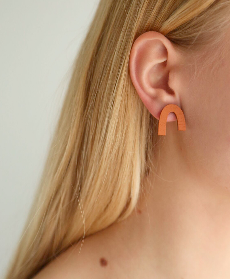 Серьги Waterfall Studs Blush / Burnt Orange