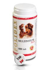 """POLIDEX """"Мультивитум Плюс"""" поливитаминно-минеральный комплекс для щенков и собак мелких и средних пород"""