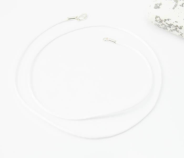PL279-3 Белый шелковый шнур гайтан для крестика фото 02