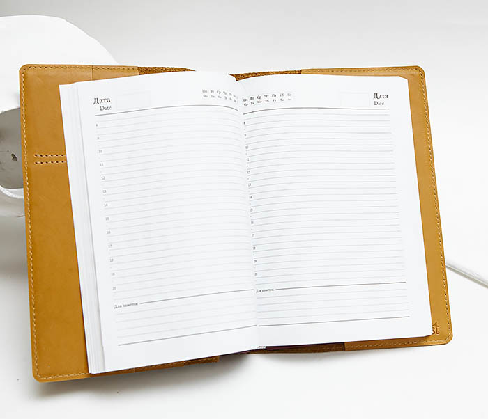 BY050605 Подарочный кожаный ежедневник «365 шагов к совершенству» (А5) фото 05