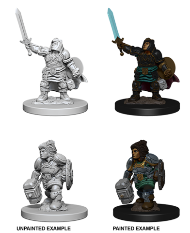 D&D Nolzur's Marvelous Miniatures - Dwarf Female Paladin