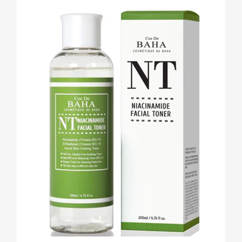 Себорегулирующий тонер с ниацинамидом и пантенолом, 200 мл / Cos De Baha Niacinamide Facial Toner
