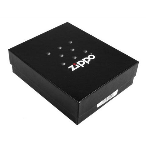 Зажигалка Zippo Dragon1 с покрытием Brushed Chrome, латунь/сталь, серебристая, матовая, 36х12х56