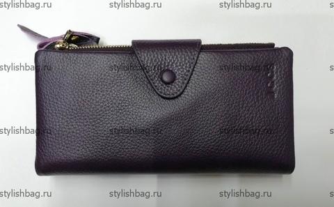 Женский фиолетовый кошелек из кожи JCCS j-3060violet