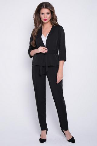 """<p>Умопомрачительный костюм! Жакет идеально подчеркнет талию поясом спереди в кулиске, вшитой в боковые швы. Брюки смотрятся стильно и дорого!&nbsp;<span>Классические офисные брюки прямого силуэта. Удобная высокая посадка, спереди """"молния"""".&nbsp;</span></p>"""