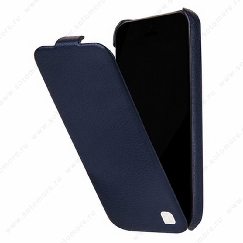 Чехол-флип HOCO для iPhone SE/ 5s/ 5C/ 5 - HOCO Duke Leather Case Purplish Blue