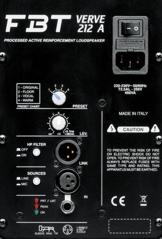 Акустические системы активные FBT Verve 212A