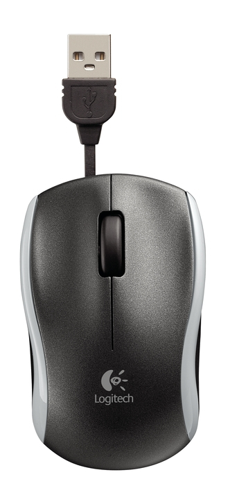 LOGITECH Corded Mouse M125 silver
