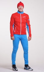 Утеплённый лыжный костюм Nordski National Red 2018 мужской
