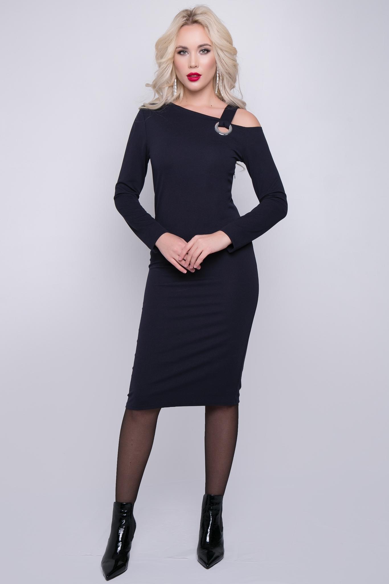 """Платье """"Элегантный шик"""" (черника)"""