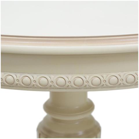 Стол ЮККА Тон 3 с патиной латте / вид шпона дуб / тип рис. для дуг лепнина №9 / 140(180)х80см