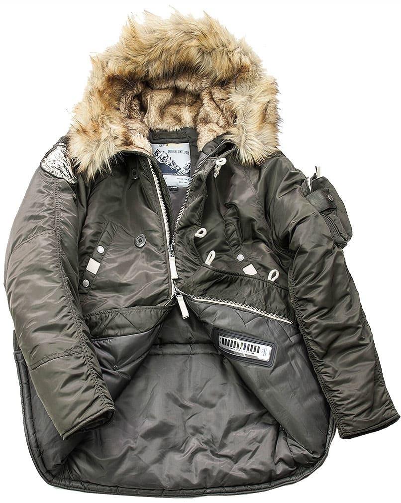Куртка Аляска  Denali Husky Military (т. оливковая - beluga)