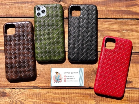 Чехол iPhone 11 Leather Bottega case