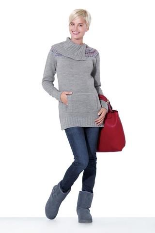 Свитер для беременных 00076 серый