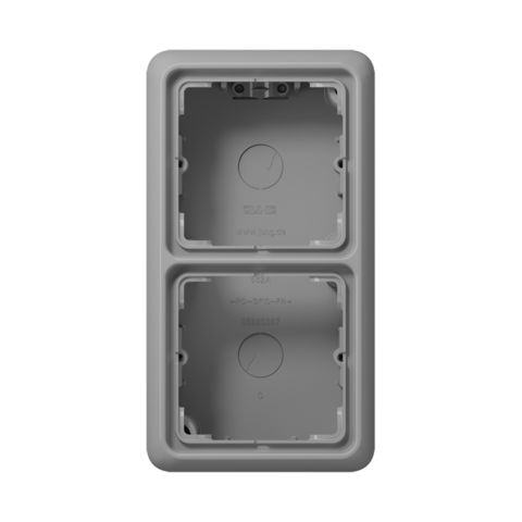 Накладная коробка на 2 поста. Цвет Серый. JUNG CD Накладные коробки. CD582AGR