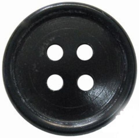 Пуговица 4-х прокол.d17, тём.-олив., арт.С91-1400 аминопласт.