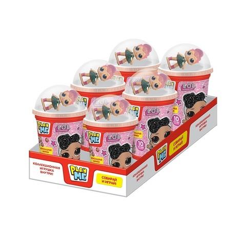 PLAY ME LOL Шоколадные шарики с игрушкой  1кор*10бл*6шт, 50г.