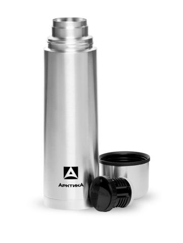 Термос Арктика (1 литр) с узким горлом классический, стальной