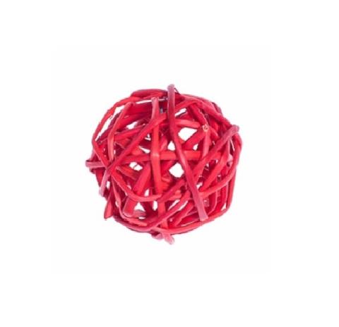 Плетеные шары из ротанга (набор:12 шт., d3см, цвет: красный)