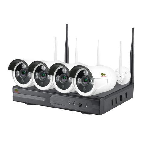 Комплект беспроводного видеонаблюдения Partizan  на 4 камеры 2Мп Outdoor Wireless Kit 2MP 4xIP v1.0 (82075)