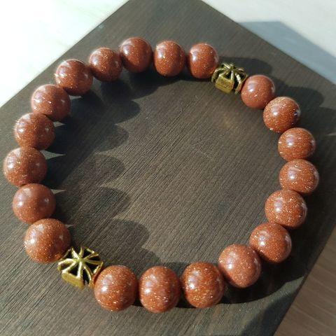 Браслет из натуральных камней: оранжевый Авантюрин