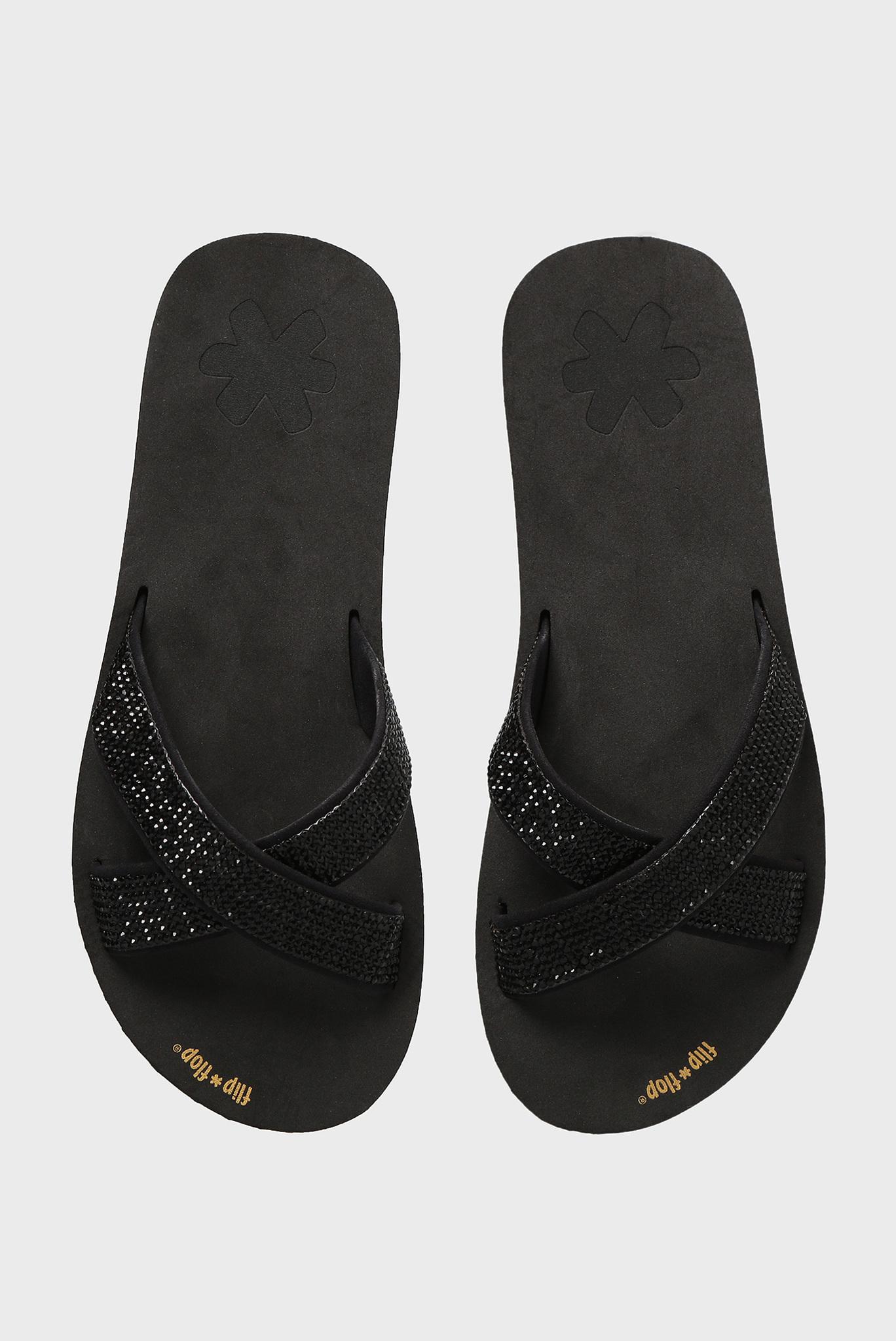 Женские черные слайдеры Flip Flop
