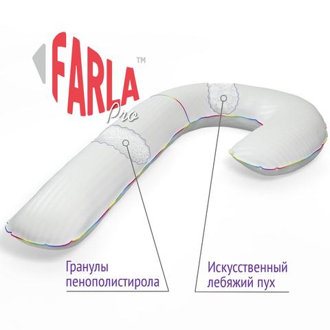 Farla. Подушка для беременных Care Pro-J с двойным наполнителем