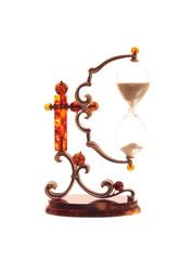 Сувенир Песочные часы, янтарь