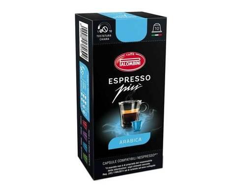 Кофе в капсулах Palombini Espresso Piu Arabica, 10 капсул для кофемашин Nespresso