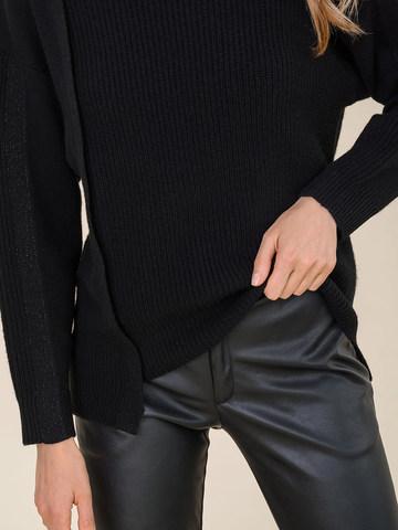 Женский свитер черного цвета из шерсти и кашемира - фото 3