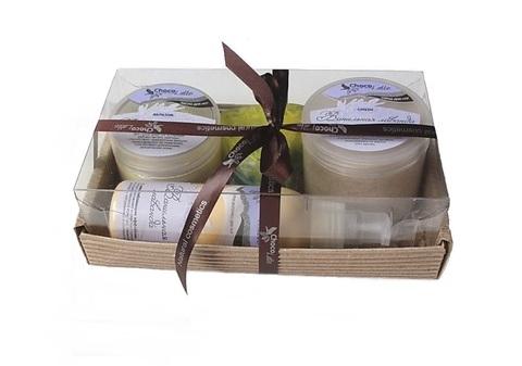 Набор подарочный №1 линия для ног Ванильная Лаванда (бальзам, смузи, молочко, мыло)/TM ChocoLatte