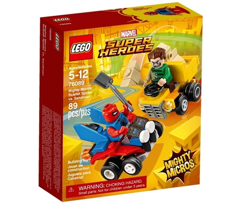 LEGO Super Heroes: Mighty Micros: Спайдер-Мэн против Песочного человека 76089 — Scarlet Spider vs. Sandman  — Лего Супергерои Марвел