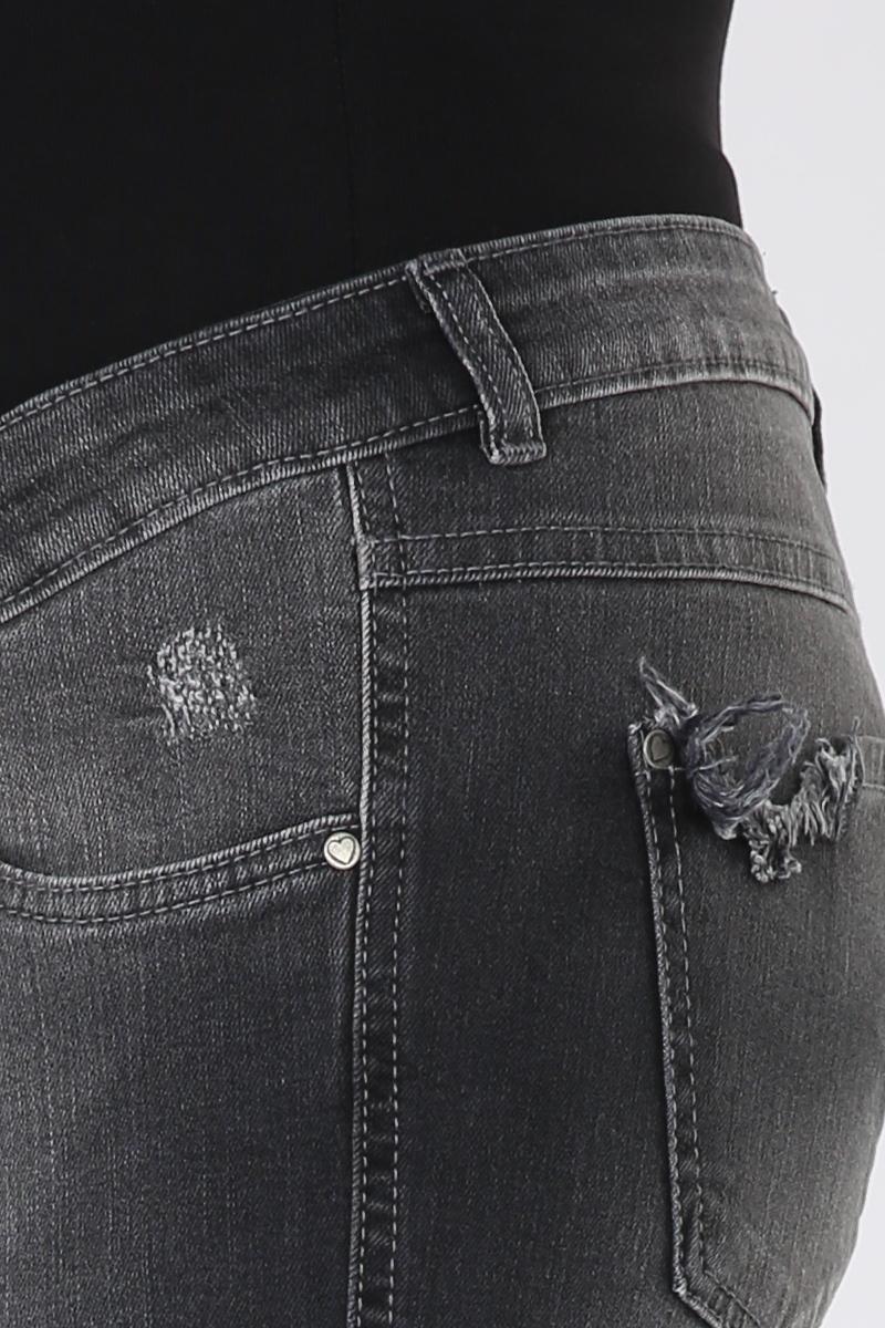 Фото джинсы для беременных MAMA`S FANTASY, зауженные, широкий бандаж, потертости, рваные элементы от магазина СкороМама, черный, размеры.