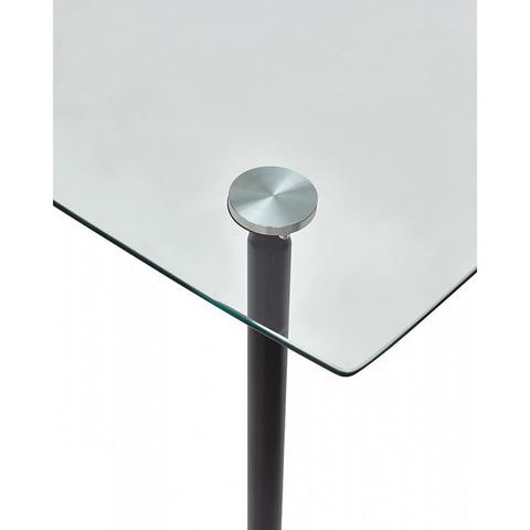 Стол RON 120 / прозрачное стекло / опора металл / 120х70см